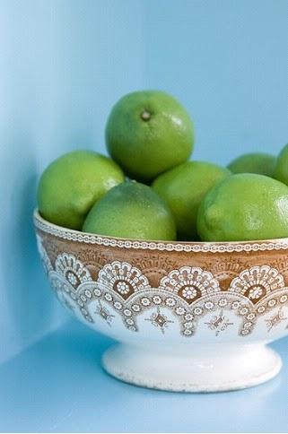 brown transferware bowl