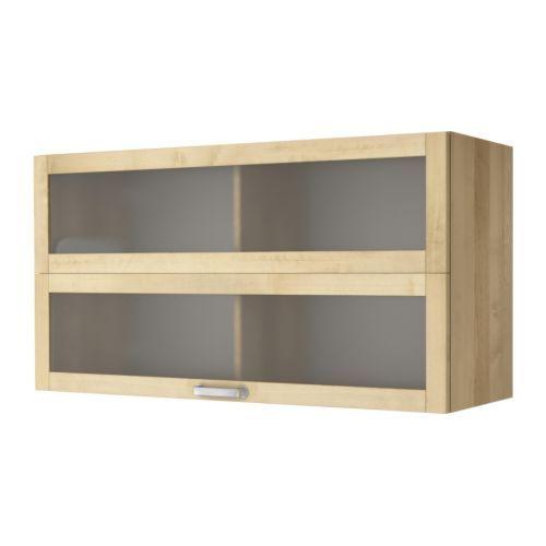 VÄRDE Vitrine murale IKEA Portes pliantes dont l'ouverture nécessite peu de place. Idéal pour les petits espaces.