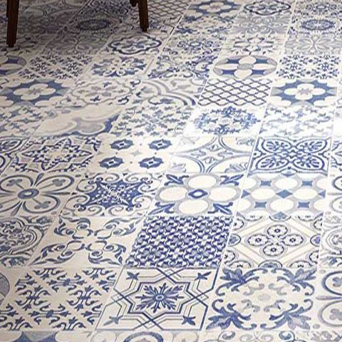 Calke is a Spanish porcelain wall and floor tile that is designed to replicate a vintage or Moresque encaustic pattern with a matt finish. It can create a fantastic design feature for hallways, entrances, kitchens and bathrooms.