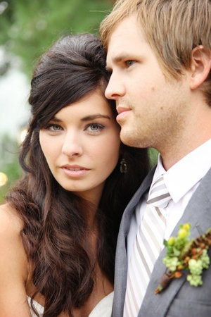 Wedding, Hair, Long, Curly, Wavy, Couple, Courtney sawyer - Project Wedding
