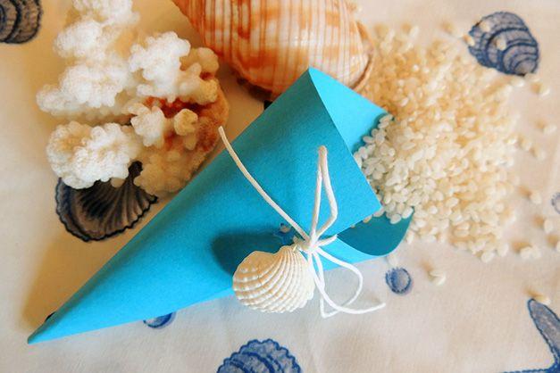 Matrimonio.it | Coni portariso per matrimonio fai da te #wedding #cones #rice #tema #mare