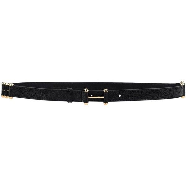 Balenciaga Belt ($170) ❤ liked on Polyvore featuring accessories, belts, black, 100 leather belt, real leather belts, leather belts, balenciaga and genuine leather belt