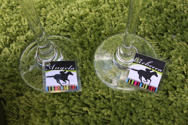 Melbourne Cup party printables - Wine charms