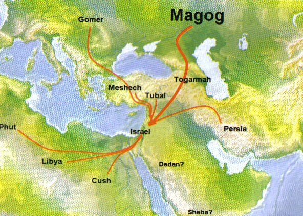 valley of hamon gog map - Google Search