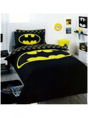 Batman Logo Bedding Quilt Cover Set Single