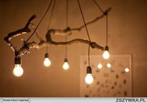 Tree branch lighting.