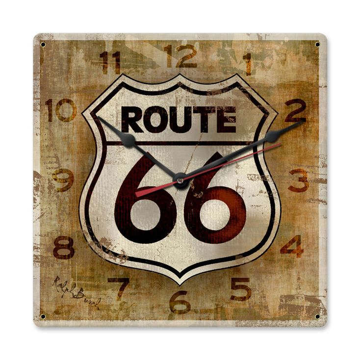 Route 66 Wall Clock 12 X Inches