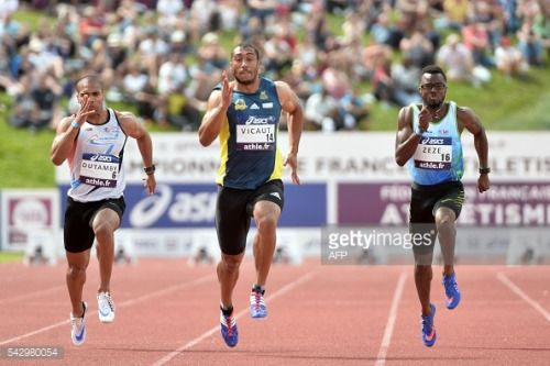 France's Jimmy Vicaut © competes and wins the... #dunavatudejos: France's Jimmy Vicaut © competes and wins the men's 100m… #dunavatudejos
