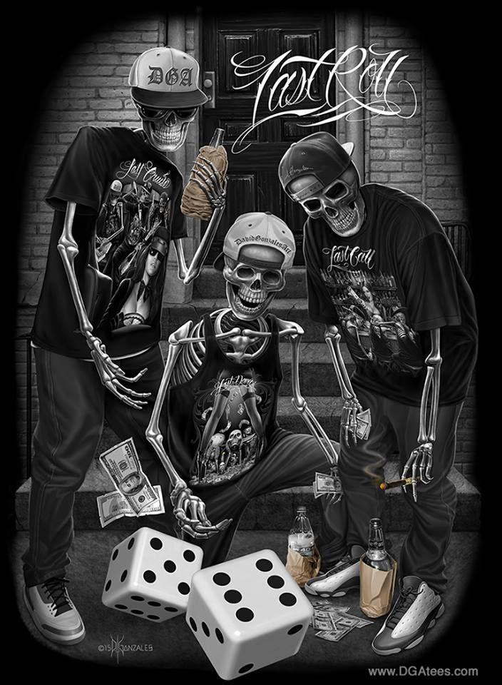 dga tees skull gangster arte