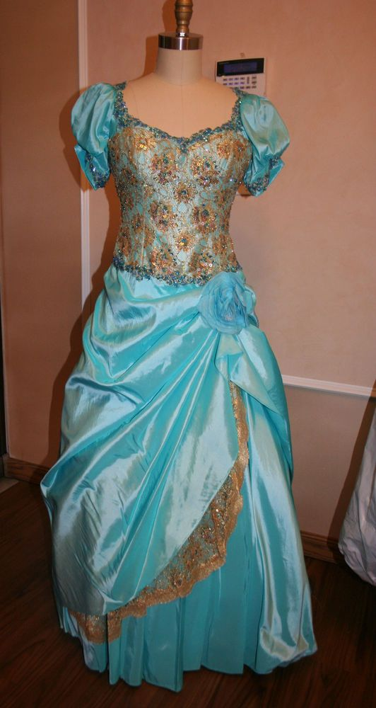 Terani Dress, Wedding, Special Occasion, Prom, Size 10, with Sleeves Turquoise