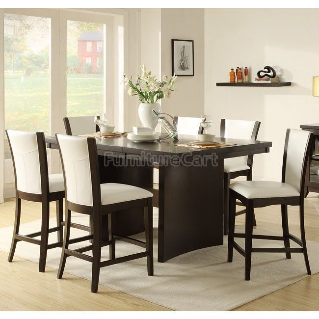 Daisy Counter Height Dining Room Set With White Chairs Dining