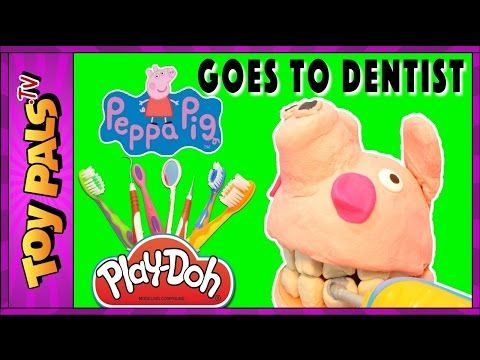Play-Doh Peppa Pig Videos GOES TO DENTIST Video for Kids | Peppa Pig Play Doh Episode Toypals.tv - YouTube
