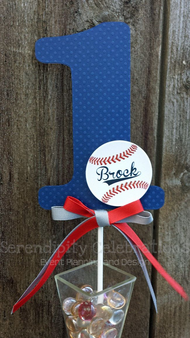 Numerical Cake Topper -Personalized Centerpiece -Vintage Baseball -Birthday -Smash Cake Topper -Photo Prop -Made to Match -Sports -Base ball by SerendipityPartyShop on Etsy https://www.etsy.com/listing/208551442/numerical-cake-topper-personalized