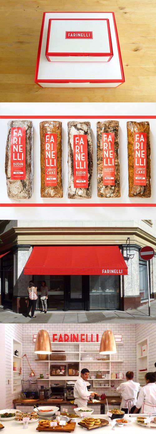 Farinelli. This fiery red-rimmed design brings french-inspired cuisine to the stomachs of Buenos Aires citizens.