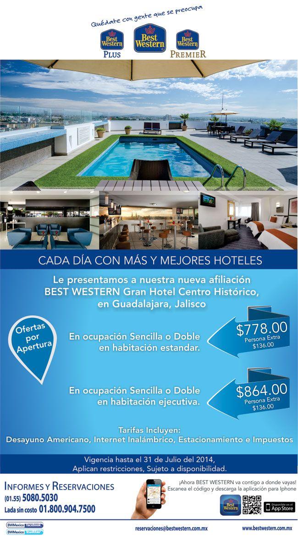Hospédate en el centro de Guadalajara en Best Western Gran Hotel Centro Histórico