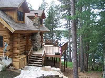 Hayward Vacation Rental   VRBO 232718   4 BR Northwest House In WI,  Lakeside Lodge   Handcrafted Log Home Hayward/Minong Area
