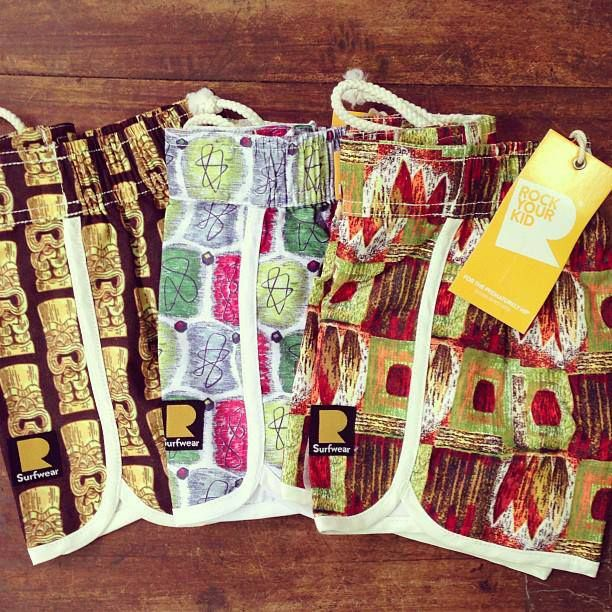 The new Rock Your Kid boardshorts