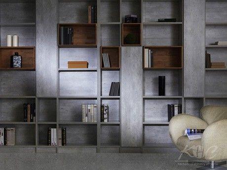 清水模書房系列 2 - KHC傢櫥-進口家具.廚具.櫥櫃