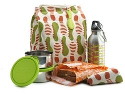 Kids Konserve- Caterpillar Waste-Free Lunch Kit, BPA-free, kids lunchbox, stainless steel containers, reusable lunch pack, recycled lunch bag, stainless steel water bottle, sandwich wrap, sandwich bag, sandwich wrapper, reusable baggies, eco-friendly kit
