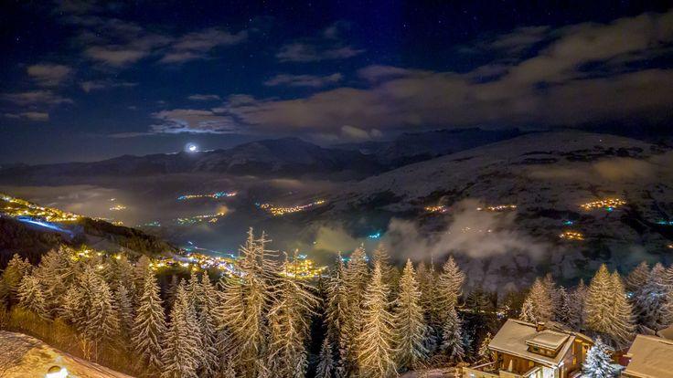 "#peiseyvallandry "" by night. Crédit photo Antoine Lepot"