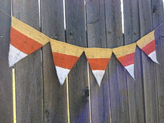 CANDY CORN BANNER, Candy Corn Decor, Rustic Holidays, Rustic Halloween Decor, Fall Mantle Decor, Rustic Fall Decor, Cute Halloween