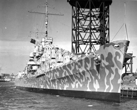 Light cruiser USS Juneau (CL-52) at New York Navy Yard.