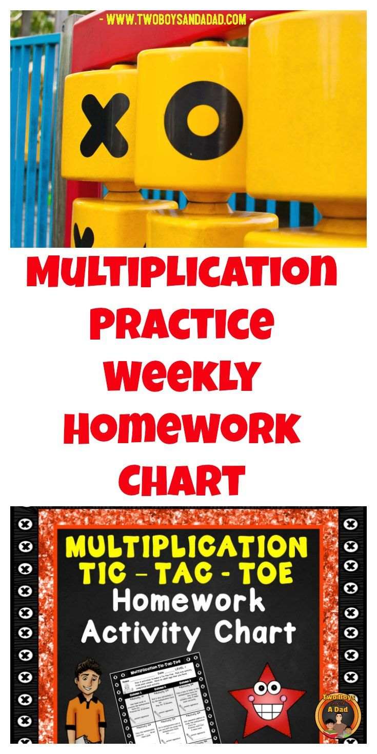 Students need to study their multiplication facts to memorize them.  But how?  Try this weekly multiplication homework activity chart styled on Tic-Tac-Toe.  Students must complete 3 out of 9 weekly activities.  Daily practice helps the students gain multiplication fluency with the multiplication tables.  Includes a one minute assessment!  Check out the preview!