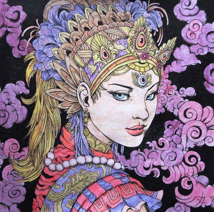 Nicholas F. Chandrawienata - Fantasia  Girl Coloured with Derwent Academy