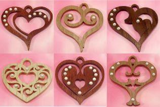 Scroll saw heart ornaments