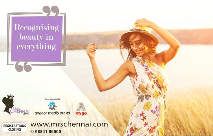 It's in the little things. The sun in your face, the wind in your hair. Mrs.Chennai stands for the little things. Will you be Mrs.Chennai? #NammaVeetuPonnu #beautyiseverywhere #MrsChennai  Log on to www.mrschennai.com to register. Or click 'Sign up'
