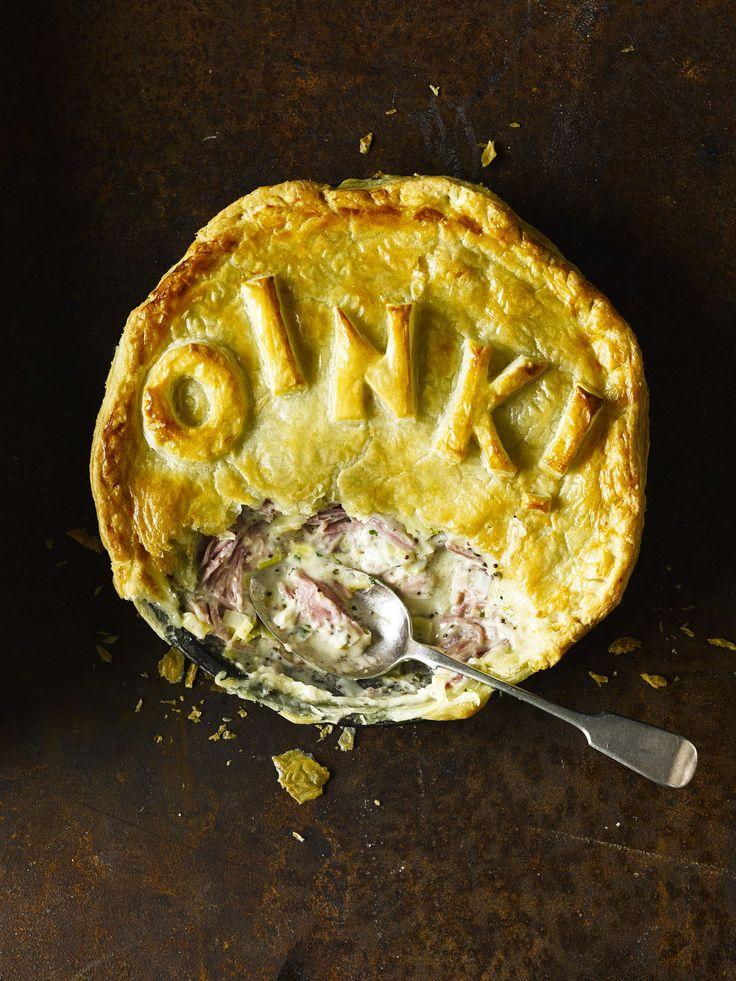 ham hock, cider and green peppercorn pie.