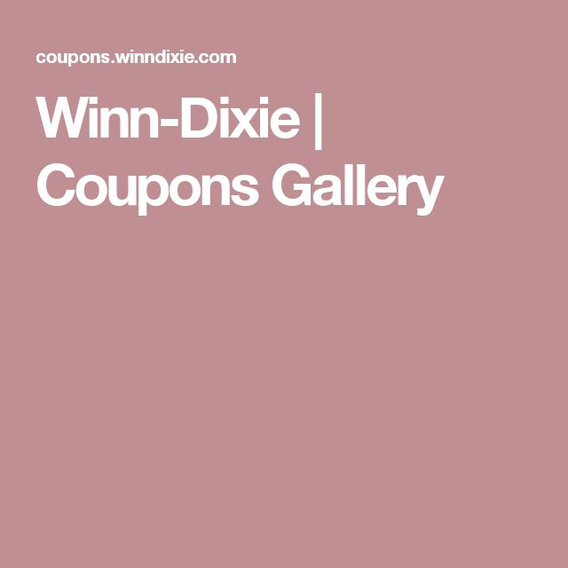 Winn-Dixie | Coupons Gallery