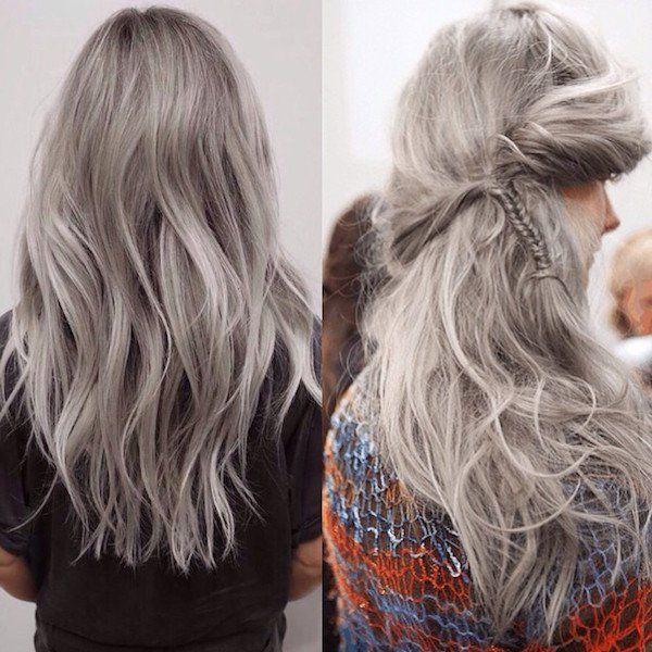 Cabelo cinza é nova tendência entre garotas descoladas | Estilo: