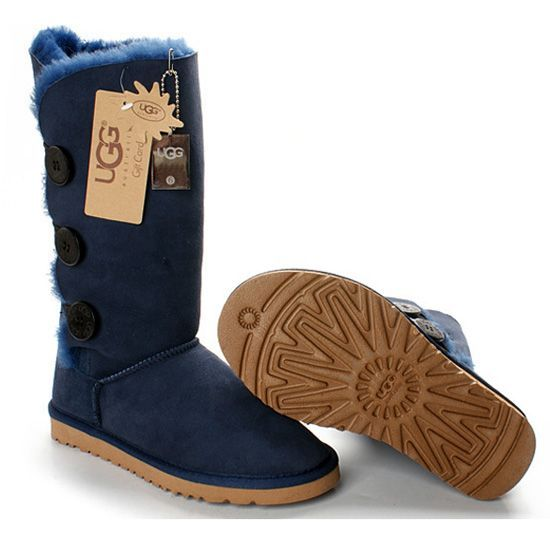 1873 Bailey Button Triplet Tall Ugg Boots Beep Blue