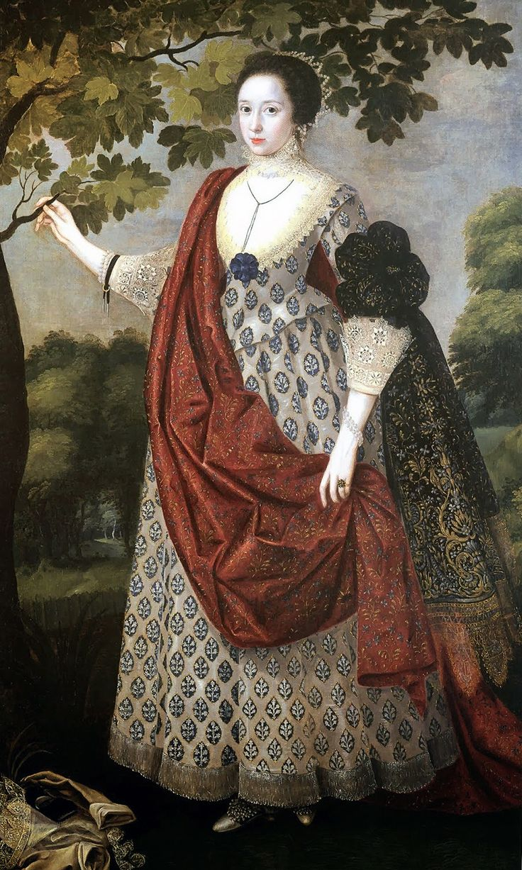 Cecilia Nevill wife of Fitzwilliam Coningsby of Hampton Court, Herefordshire by Robert Peake, c. 1617