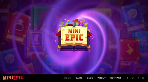 MiniEpic Logo on the website homepage  www.MiniEpic.com