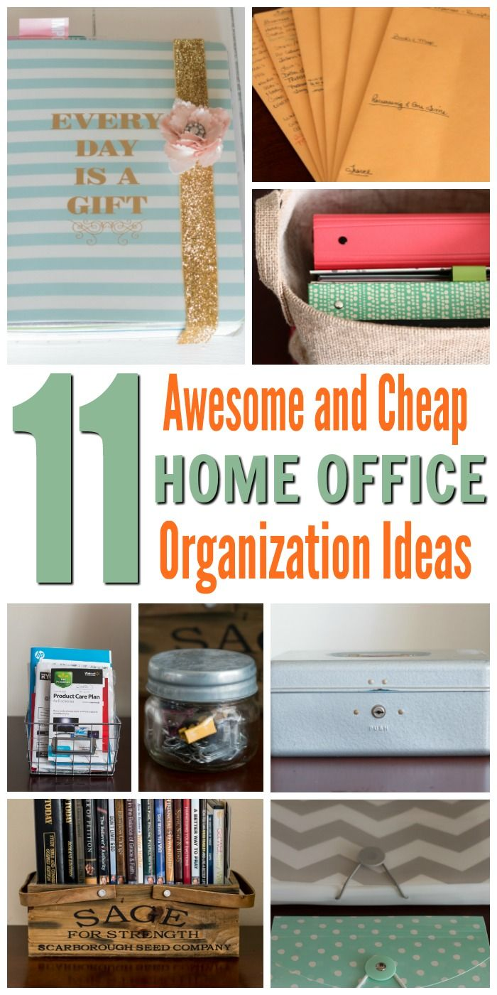 11 Awesome and cheap home office organization ideas for small spaces. . Achieve an organized and clutter-free space easily.