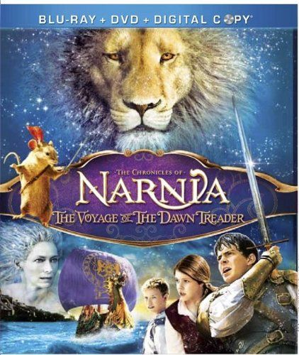The Chronicles of Narnia: The Voyage of the Dawn Treader [2010]: Lucy (Henley) and Edmund (Keynes) live with their insufferable prig cousin, Eustace (Will Poulter). All three are called into Narnia to help King Caspian (Barnes) and swords-mouse, Reepicheep (Simon Pegg), find the seven Lords of Narnia, who were banished by Caspian's Telmarine uncle, Miraz. The voyage will test and tempt them all deeply before the end, and one will be welcomed into the Country of Aslan (Neeson)...