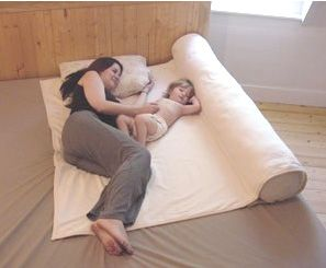Safe co-sleeper for once they're out of the Moses basket - easy DIY!----- I REALLY need this