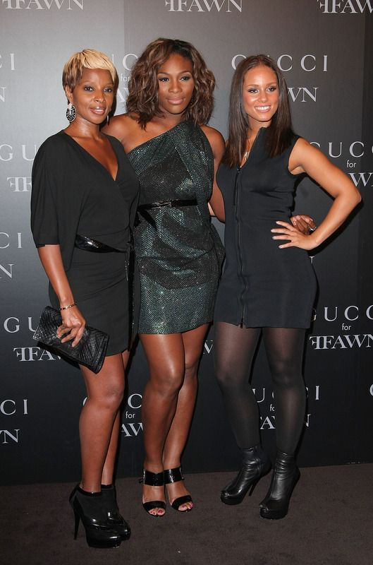 Mary J. Blige, Serena Williams & Alicia Keys