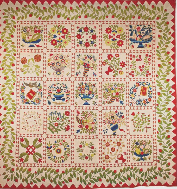 449 Best Baltimore Album Applique Quilts Images On Pinterest