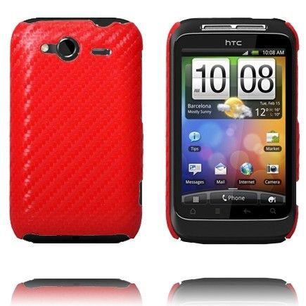 Carbonite (Punainen) HTC Wildfire S Suojakuori