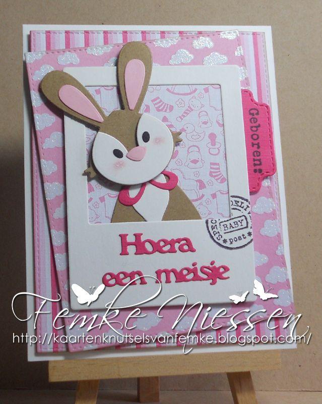 Made by Femke Niessen: baby bunny girl. Eline Pellinkhof: collectable bunny.