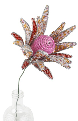 Pink protea, $20, with free delivery in Australia, from www.wiredandwonderful.com.au African homewares and gifts