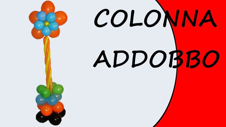 Video tutorial on how to create a column with balloons #column #decorations