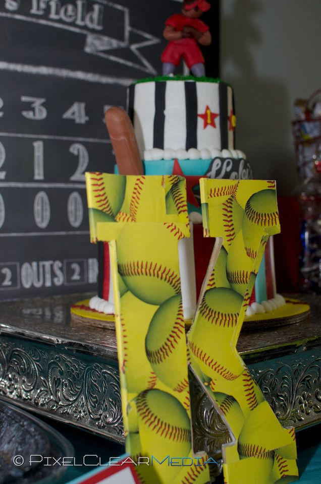 Softball themed birthday party