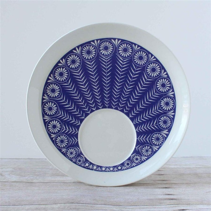 Arabia Finland Peacock Plate TV or Breakfast Set. $42.00, via Etsy.