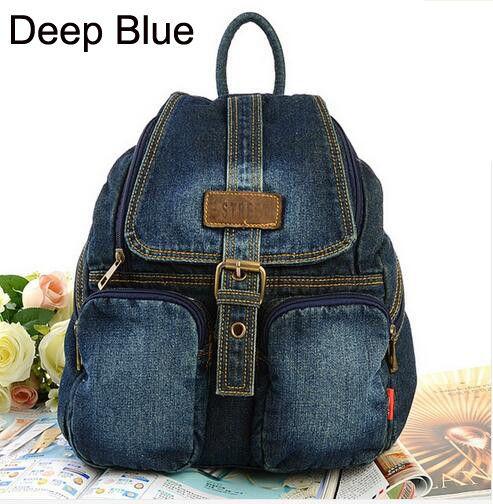 Мода женщин школьные рюкзаки холст рюкзак джинсовые рюкзаки для девочек подростков старинные школа кампус дорожные сумки рюкзаки купить на AliExpress
