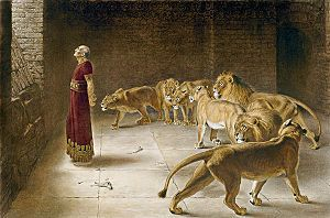 Daniel reminds us in this painting to keep our eyes on God and not our problem. One of my favorite pieces of art.