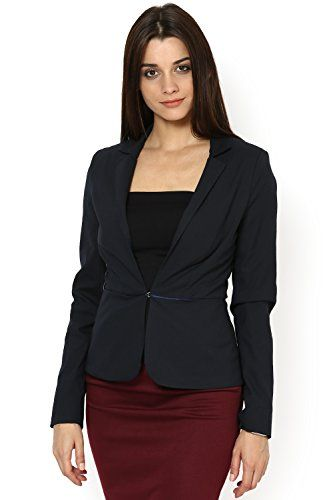 Kaaryah Women's Formal Jacket 6P Navy Blue   #FreedomOfArt  Join us, SUBMIT your Arts and start your Arts Store   https://playthemove.com/SignUp